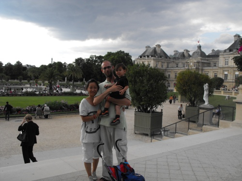 KJ, Jeff and Ian in Paris at one of the world's greatest parks, the Luxembourg Gardens.