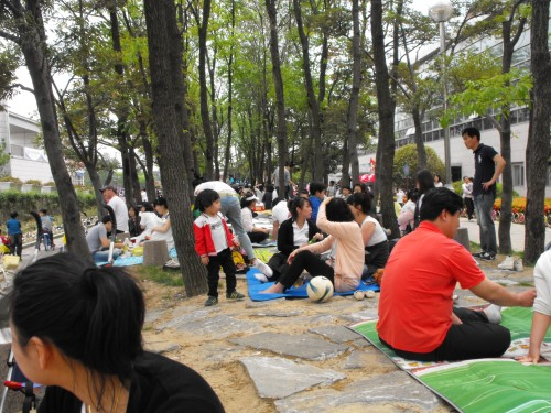 We thought SPO 1 Park would be a great place for a picnic - and a million others in the Busan area had the same idea.