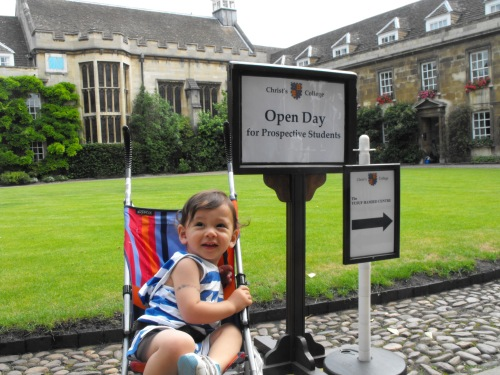 Our little Cosco buggy at Cambridge University. Great for keeping Ian where we wanted him when we wanted him to be where we wanted him.